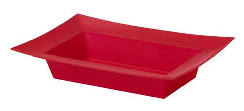 ESSENTIALS Rectangle Bowl Vases-Plastic Flower Vases-Smithers-Oasis-Red-24-