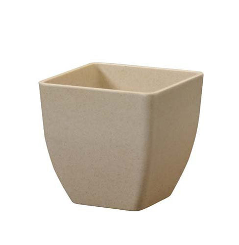 ECOssentials Cube Plastic Vase-Plastic Flower Vases-Smithers-Oasis-Natural-3.5 in-24