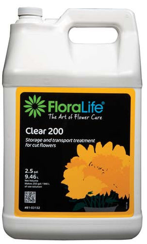 Floralife Clear 200 Storage & Transport Treatment-Cut Flower Care-Smithers-Oasis-2.5 gallons with pump-1-