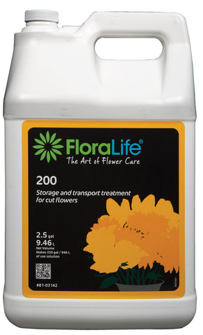 Floralife 200 Storage & Transport Treatment-Cut Flower Care-Smithers-Oasis-2.5 gallons with pump-1-
