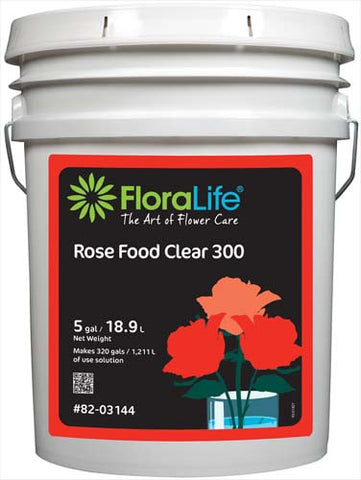 Floralife Rose Food Clear 300 Liquid-Cut Flower Care-Smithers-Oasis-5 gallons-1-