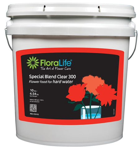 Floralife Special Blend 300 Flower Food Powder for Hard Water-Cut Flower Care-Smithers-Oasis-10 lb.-1-