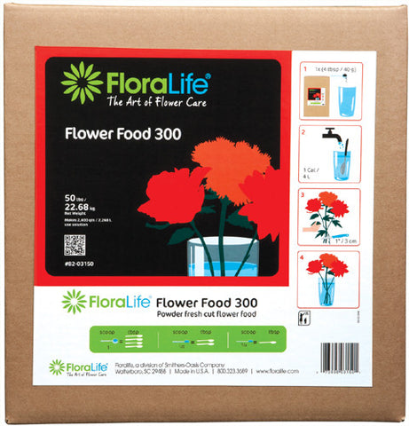 Floralife Flower Food 300 Powder-Cut Flower Care-Smithers-Oasis-50 lb.-1-