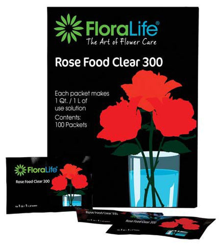 Floralife Rose Food Clear 300 Powder-Cut Flower Care-Smithers-Oasis-1Qt./1L packet-600-
