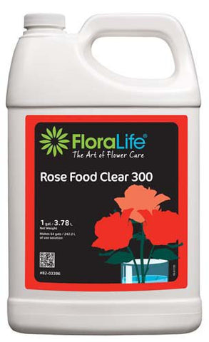 Floralife Rose Food Clear 300 Liquid-Cut Flower Care-Smithers-Oasis-1 gallon-6-