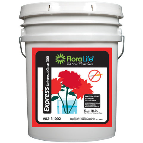Floralife Express Universal Clear 300-Cut Flower Care-Smithers-Oasis-5 gallons-1-