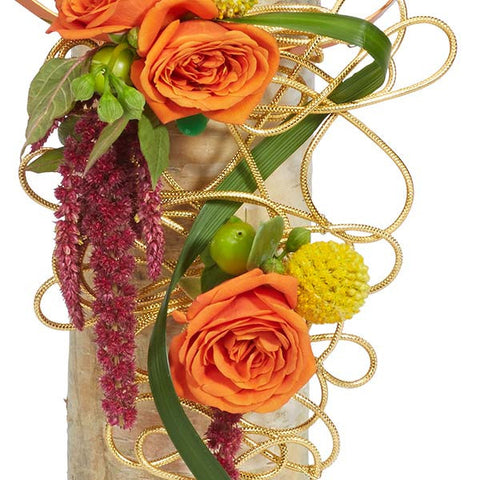 OASIS Etched Florist Wire 12 Gauge-Floral Design D?_cor-Smithers-Oasis-Gold Matte-10-