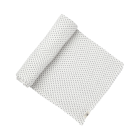 Navy Pin Dot Swaddle - Pehr