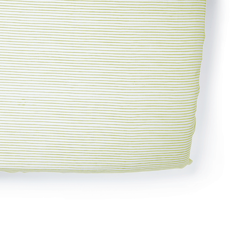 Citron Stripes Crib Sheet - Pehr
