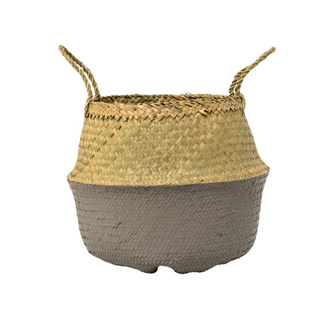 Seagrass Basket Natural&Grey - Bloomingville