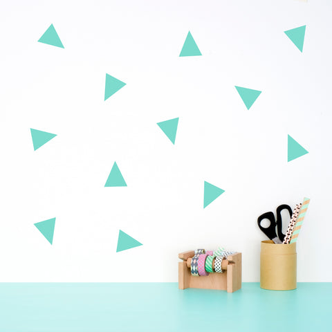 Wall Decal Pattern Mint Triangles - Made of Sundays