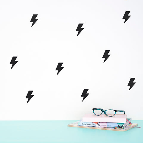 Wall Decal Pattern Black Lightnings - Made of Sundays