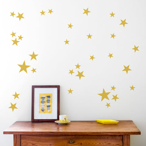 Wall Decal Pattern Gold Stars - Made of Sundays