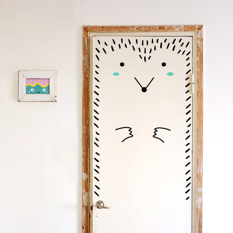 Door Decal - Paco the Porcupine - Mint Cheeks - Made of Sundays