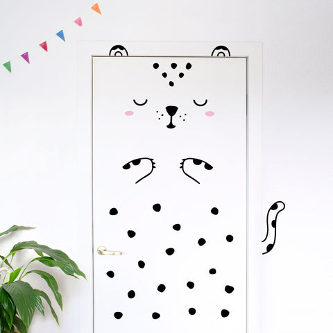 Door Decal - Luca The Leopard - Pink Cheeks - Made of Sundays