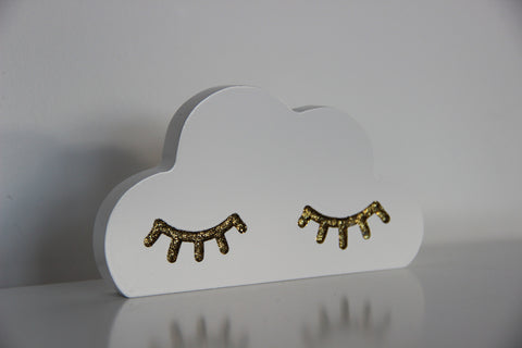 Cloud Hook with Gold Lashes - Pixistuff