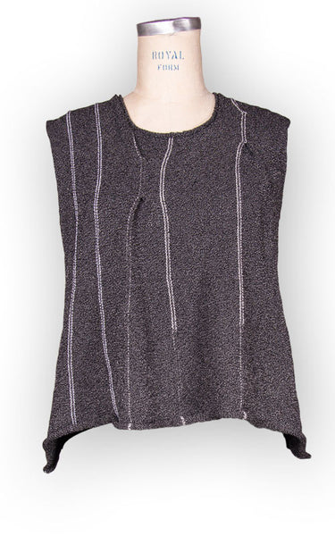 Pleated Knit Vest