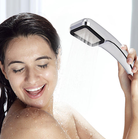 Aqua Tech 2.0 High Pressure Shower Head With 300 Holes - Water Saving Sprayer