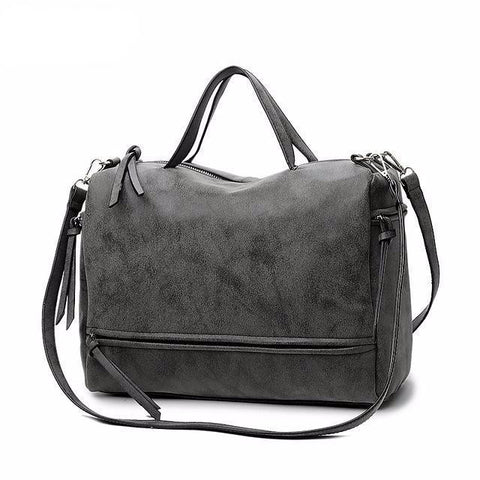 Nubuck Leather Messenger Bag Handbag