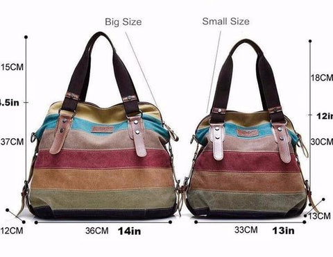 horizontal stripe patchwork tote handbag purse onuve