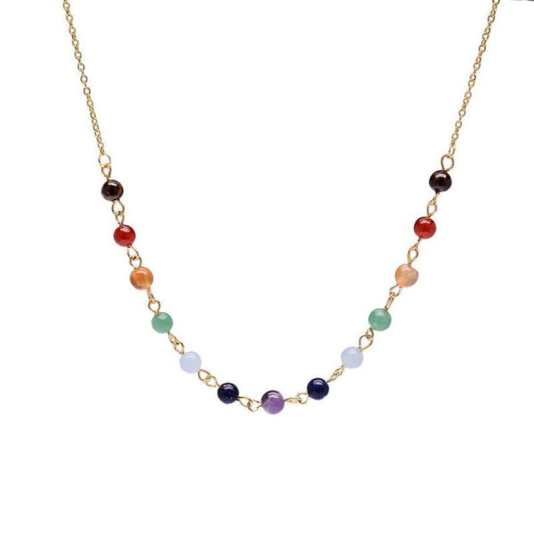 7 Chakra Natural Stone Beads Necklace Necklaces & Pendants