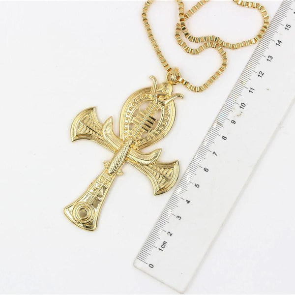 Ancient Ankh Cross Of Horus Egyptian Eagle & Snake Design Pendant Necklace Pendant Necklace