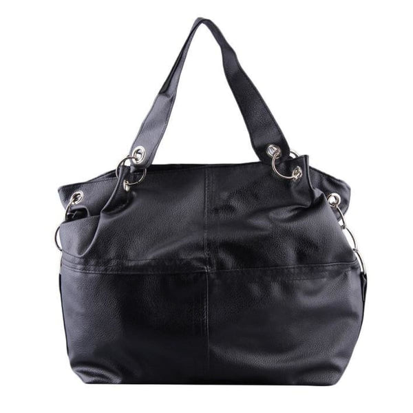 Awesome Vintage Leather Messenger Bag Tote Black Shoulder Bags
