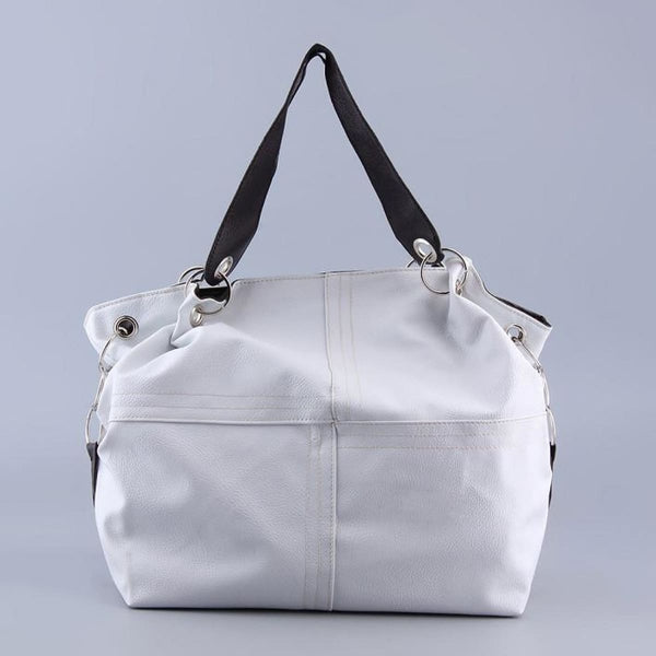 Awesome Vintage Leather Messenger Bag Tote White Shoulder Bags