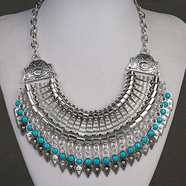 Bohemian Ethnic Choker Collar Vintage Maxi Statement Necklaces & Pendants Pendant Necklaces