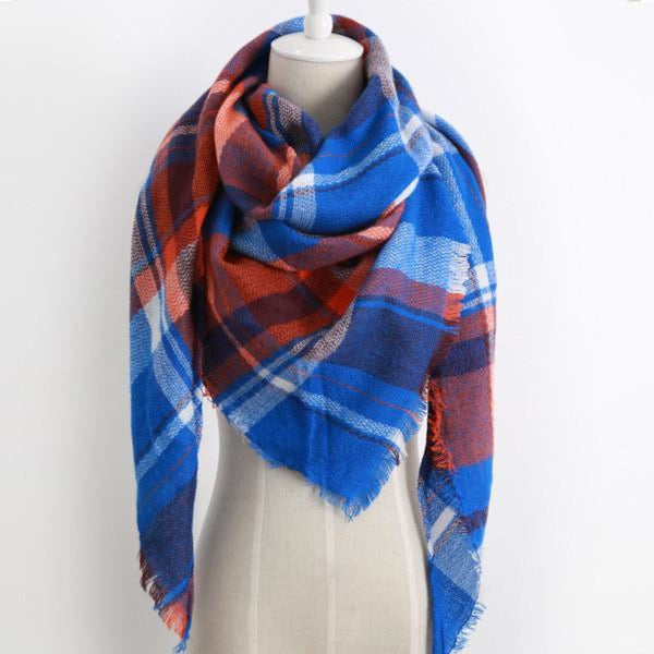 Cashmere Triangle Plaid Shawl Scarf Triangle Color19 Scarves