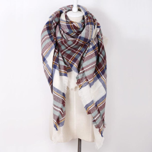 Cashmere Triangle Plaid Shawl Scarf Triangle Color20 Scarves