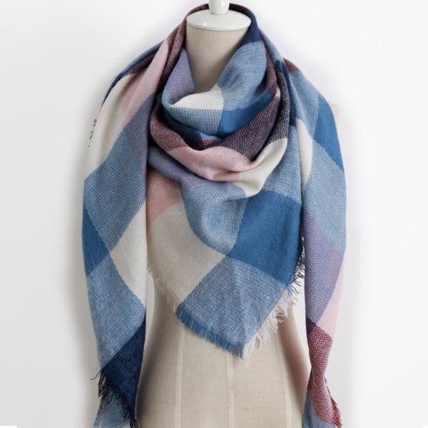 Cashmere Triangle Plaid Shawl Scarf Triangle Color15 Scarves