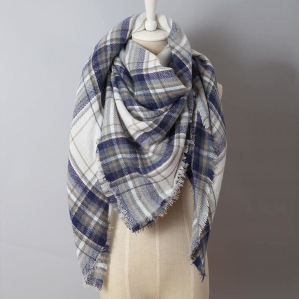 Cashmere Triangle Plaid Shawl Scarf Triangle Color13 Scarves