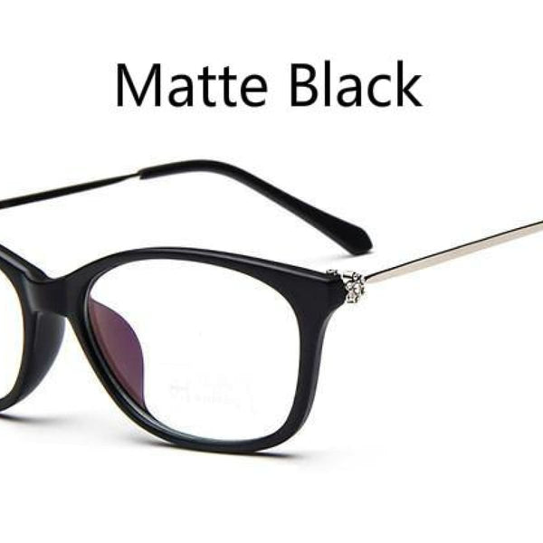 Cat Eye Retro Eyeglasses Clear Lens Eyewear Frame - Oculos De Grau Matte Black