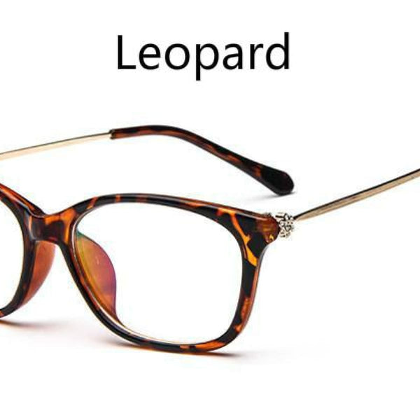 Cat Eye Retro Eyeglasses Clear Lens Eyewear Frame - Oculos De Grau Leopard