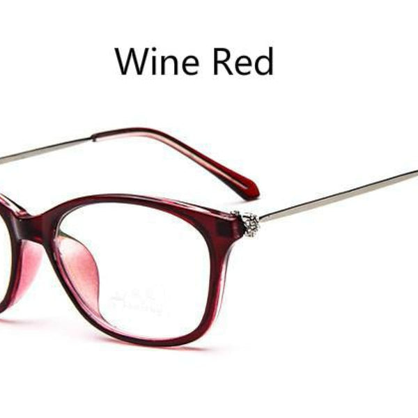 Cat Eye Retro Eyeglasses Clear Lens Eyewear Frame - Oculos De Grau Wine Red