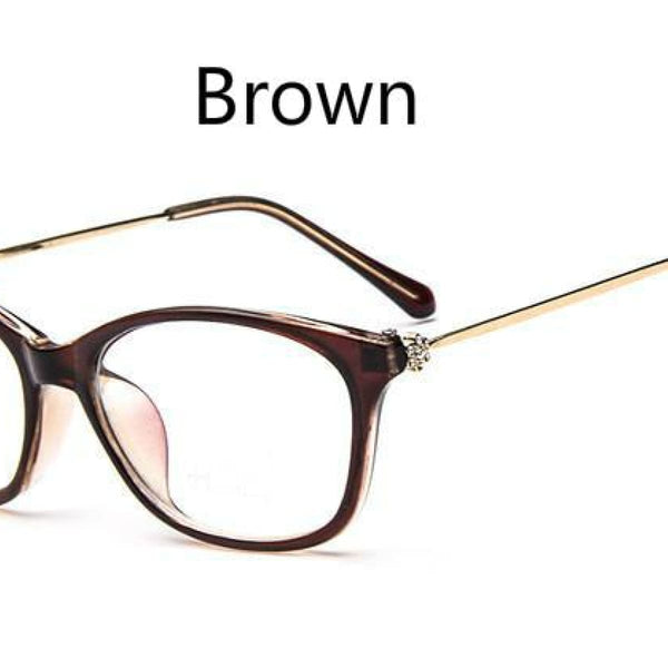 Cat Eye Retro Eyeglasses Clear Lens Eyewear Frame - Oculos De Grau Brown