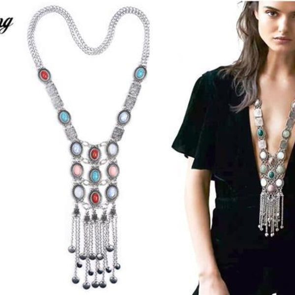 Crystal Maxi Choker Necklaces With Pendants 14 Chain Necklaces