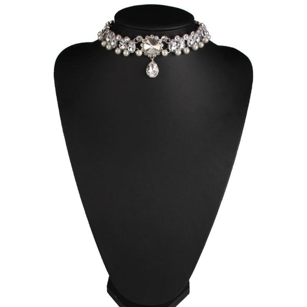 Drop Crystal Beads Choker Necklace & Pendant Choker Necklaces
