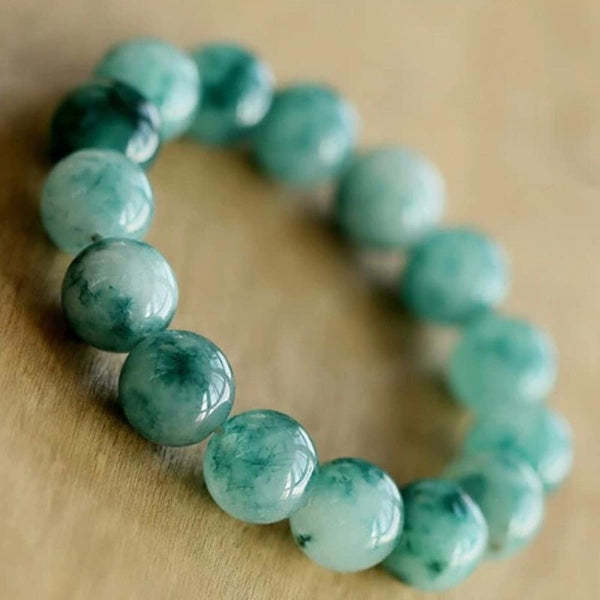 Exclusive New Natural Color Jade Bracelet Semi-Precious Stones Natural Beads Bangles Strand Bracelets