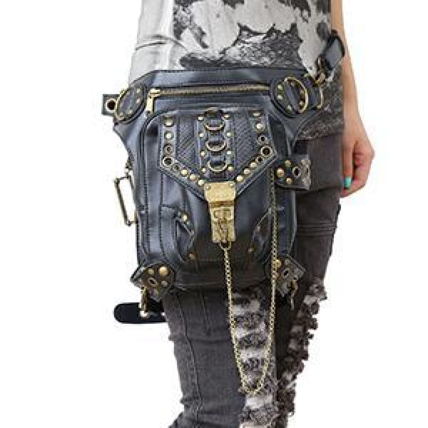G1 Retro Steampunk Skull Waist Bag / Shoulder Bag 01 Fgb Steampunk Bag