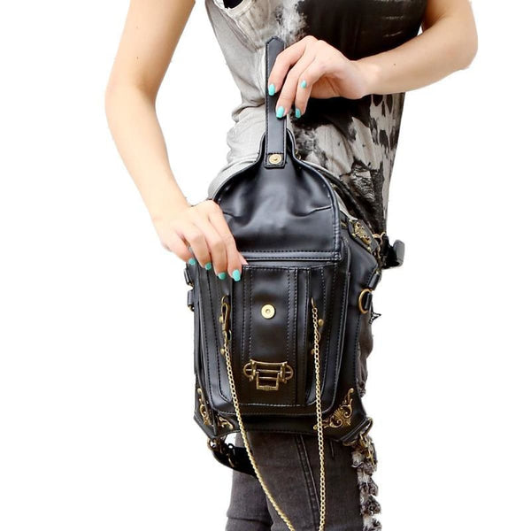G1 Retro Steampunk Skull Waist Bag / Shoulder Bag Steampunk Bag