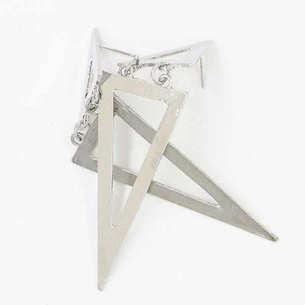 Gold/silver Plated Triangle Dangle Stud Earrings Free Stud Earrings