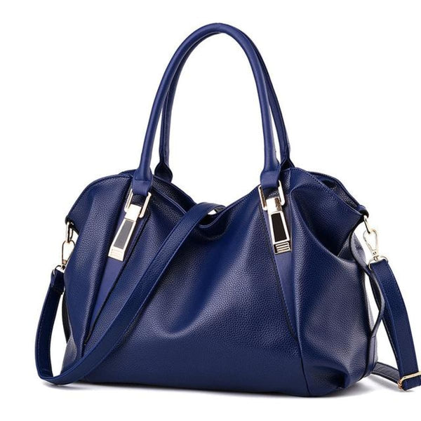 H Fashion Designer Leather Tote Handbag Blue / China / 32X27X10Cm Leather Handbag