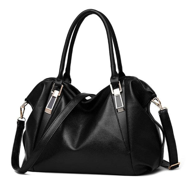 H Fashion Designer Leather Tote Handbag Black / China / 32X27X10Cm Leather Handbag
