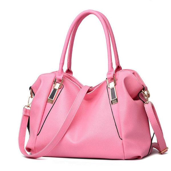H Fashion Designer Leather Tote Handbag Pink / China / 32X27X10Cm Leather Handbag