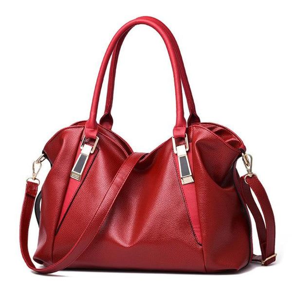 H Fashion Designer Leather Tote Handbag Red / China / 32X27X10Cm Leather Handbag