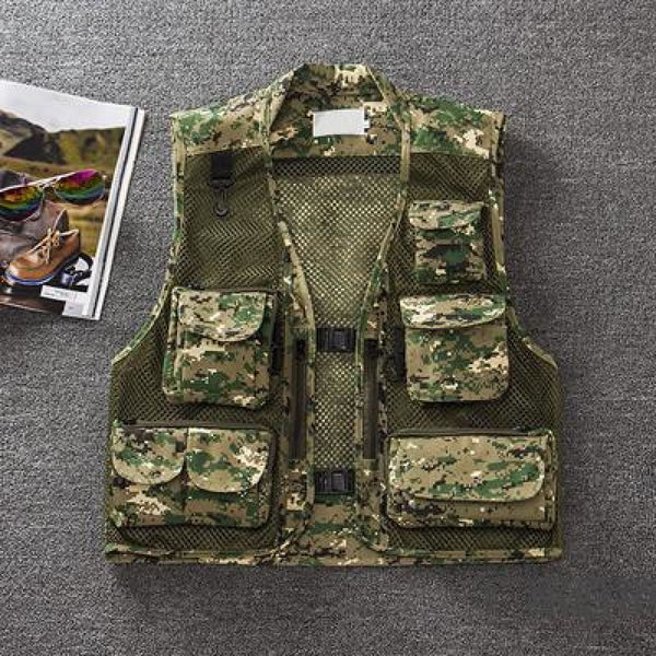 Level 1 Multifunctional Tactical Vest Green Camouflage / M Tactical Vest