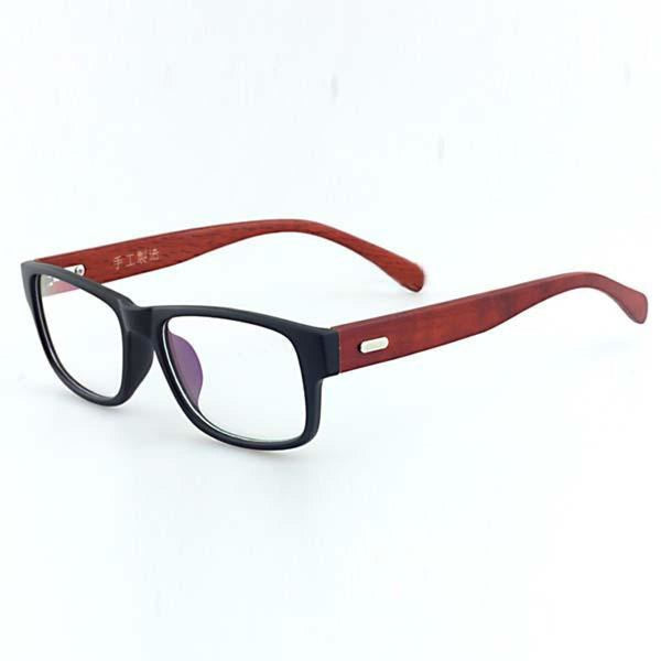 Men Women Clear Lens Eyewear Bamboo Wood Frame Sunglasses Brown Sunglasses