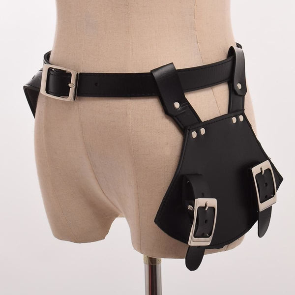 Mens Leather Armor Sword Holder Medieval Renaissance Knights Holster Scabbard Waistbelt Steampunk Costume